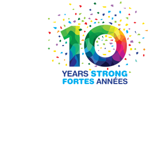 CAFCN logo 10 years anniversary