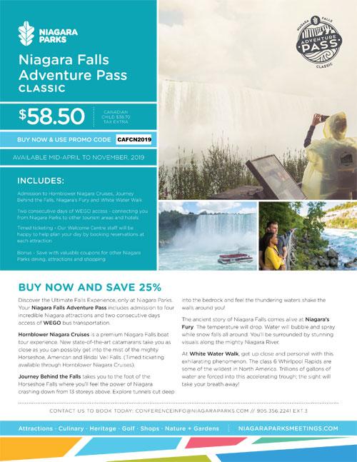 Niagara Parks Adventure Pass
